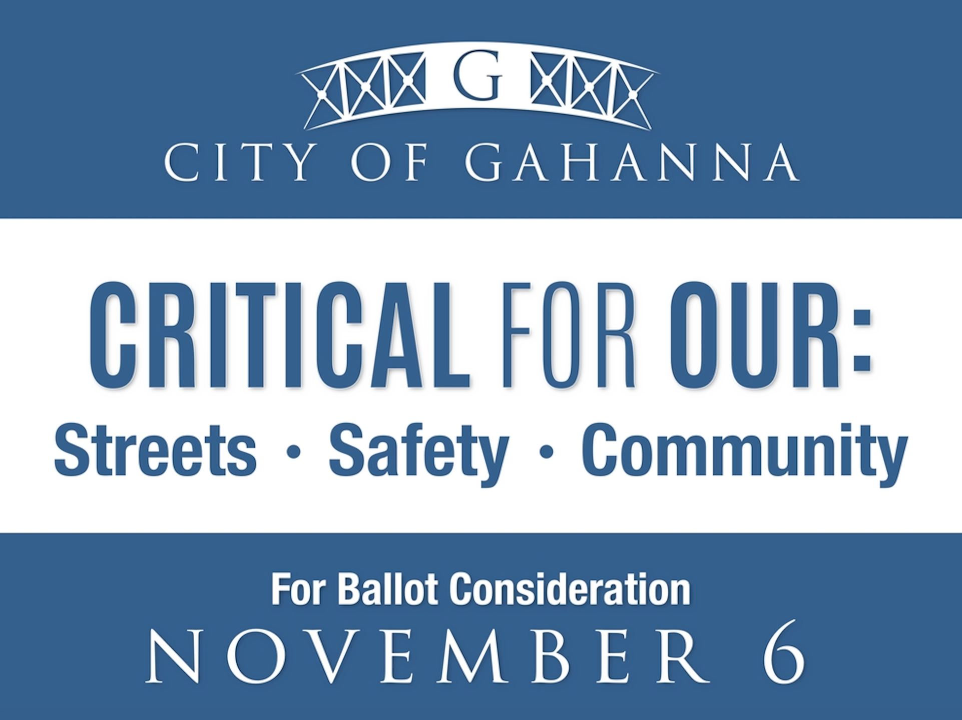 City of Gahanna to Address Streets and Safety with Nov. 6 Ballot